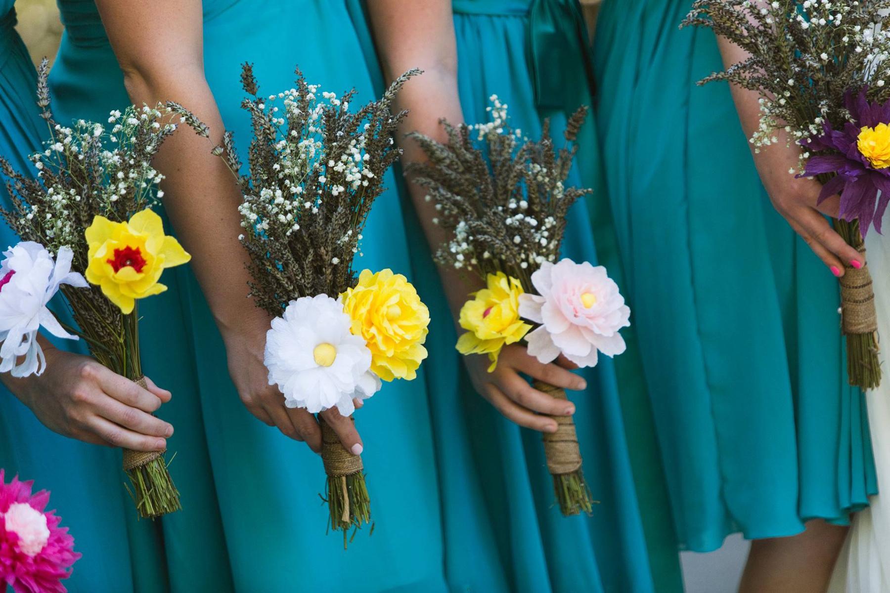 DIY paper flowers, wedding photography, wedding details